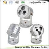 Disipador de calor de aluminio del perfil del ventilador irregular de la cubierta para las piezas de automóvil del material de construcción