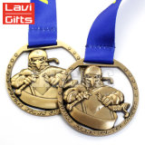 Premio d'argento antico su ordinazione 3D che lotta la medaglia di sport di campionati di Bcaa
