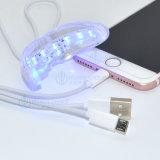Denti che imbiancano tipo denti portatili che imbiancano l'indicatore luminoso del LED