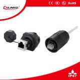 Cnlinko imperméables en plastique IP67 Connecteur RJ45 pour le matériel de communication