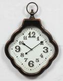 Скачками античные ржавые часы металла для искусство стены