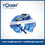 Material da fibra sintética da corda do guincho da fonte da mão