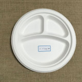 Placa biodegradável de Firber do bastão de açúcar do compartimento 9inch 3
