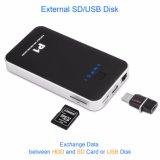Compartimento de disco rígido WiFi com cartão SD e USB para armazenar fotos e filmes
