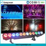 세륨 옥외 12PCS*25W Rgbaw LED 바 빛 벽 세탁기