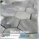 Mozaïek van de Vorm van Carrara van Volakas het Witte Marmeren Hexagon