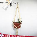 Sostenedor de crisol de interior tejido de flor de la percha de cerámica grande del crisol de la cuerda del algodón