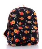 Sac à dos de type d'impression floral, sac mignon de loisirs de vent d'université de sac à dos de série de dessin animé