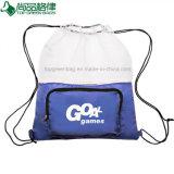 Custom maille nylon pliable en polyester coulisse sac à dos Sac de pliage