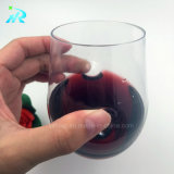 Da curva reusável do dedo de 8 onças vidro de vinho plástico, vidro de vinho do partido