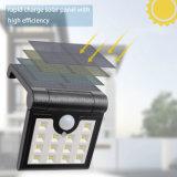 Lampe de détecteur fixée au mur actionnée solaire de rayon de garantie de jardin pliable de lampe de 14 DEL