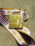 Medalla de aleación de zinc de alta calidad con el fabricante de cinta
