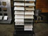 Basamento di pietra di marmo di ceramica resistente dell'unità delle cremagliere di visualizzazione delle mattonelle di pavimento della ceramica della cremagliera di visualizzazione della trasparenza del metallo della sala d'esposizione delle mattonelle di mosaico