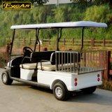 安く4つのシートの貨物が付いている電気ゴルフカートのバギー