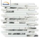 Nouveau design en aluminium Salle de bains en mosaïque de verre bande dosseret