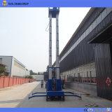 elevatore verticale dell'uomo della lega di alluminio dell'albero del doppio di altezza dell'elevatore 10m