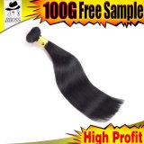 Очень славные бразильские волосы двигателя черные с Unprocessed