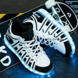 USB che incarica i pattini casuali delle scarpe da tennis chiare del LED del colore variabile 7