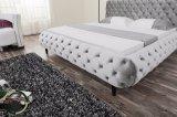 Chesterfield-modernes ledernes Bett für Schlafzimmer