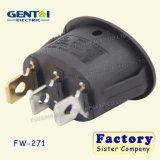 Interruptor de eje de balancín iluminado Pin de CQC T100/55 3 para la máquina del café