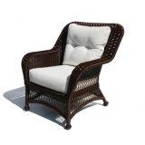 Sofá branco do Rattan do Sell quente da fábrica de Foshan com assento para pés