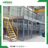 中二階床の鋼鉄プラットホームの産業倉庫の記憶の管ラック