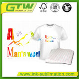 T-shirt de 100gsm, papel de transferência para T-shirt de algodão de luz em A3/A4