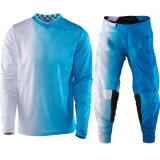 Motocicleta azul de carreras de traje al aire libre ropa de motocross de ropa (AGS06)