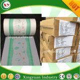 Impresión de puro plástico PE película para la hoja trasera Pañal