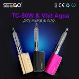 Sigarette di erbe della cera del Aqua caldo pazzesco di Vape Seego Tc-50W+Vhit