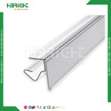 Supporto di plastica del prezzo da pagare del supporto di contrassegno della mensola del supermercato del PVC per le mensole di vetro e di legno