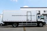Carro del transporte del alimento fresco de las ruedas de Isuzu 4X2 6 8 toneladas de carro refrigerado