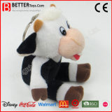 En71 шикарные цепочки ключей мягкой игрушки фаршированные животных коровы ключ кольца для детей/детей