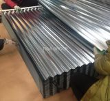 Toiture enduite ondulée en métal d'Aluzinc de plaque d'appui de Galvalume de qualité