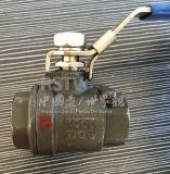 Orifice intégral de la WCB en acier au carbone à filetage femelle 2PC Clapet à bille