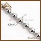 Encadenamiento niquelado de la bola de la joyería del collar de la venta al por mayor 6.5m m