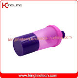 Agitador de proteínas de plástico de 600ml Garrafa com Compensação e compartimento (KL-7030)