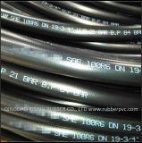 SAE J517 de type 100 l'huile hydraulique haute pression flexible en caoutchouc