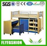 연구 결과 테이블 기숙사 침대 (BD-10)를 가진 금속 다락 침대