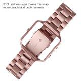 Metal bracelete de relógio de Aço Inoxidável Banda Cinta com estrutura para Fitbit Blaze