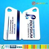 Tag chave do PVC da impressão RFID NFC NTAG213 de 13.56MHz CYMK