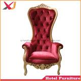 De Huwelijk Gebruikte Koning van uitstekende kwaliteit van het Witgoud Koningin Throne Chair Wedding Sofa