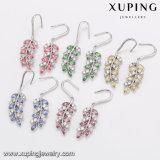 94334 nueva llegada de la moda elegante diseño de hojas pendientes cristales de Swarovski bisutería