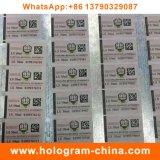 Etiqueta de carimbo quente do holograma adesivo da impressão da fibra