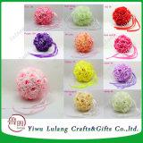 다채로운 거는 인공적인 장식적인 실크 둥근 로즈 꽃 공
