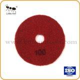 赤の背部金属の結束のダイヤモンドのコンクリートのための平らな粉砕版