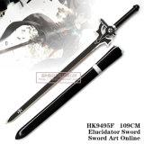 Espada preta em linha Elucidator 109cm de Kirigaya Kazuto Kirito da arte da espada