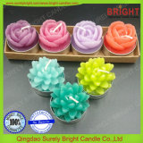 Color personalizado Venta caliente Flor Rosa Candelita velas para el uso de regalo