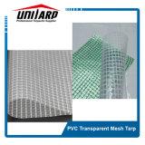 2.5m 1000d 3*3 300GSM PVC Super Clear Mesh Tarpaulin Fabric
