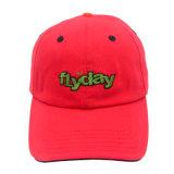 Deportes rojo personalizados Gorra no estructurados Papá sombreros con logotipo bordado en 3D.